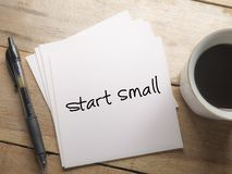 Start Small, Motivational Words Quotes Concept royalty free stock photo