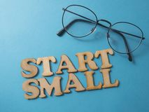 Start Small, Motivational Words Quotes Concept stock image