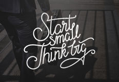 Start Small Think Big Ideas Creativity Aspirations Concept royalty free stock image