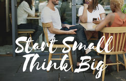 Start Small Think Big Smart Ideas Inspire Vision Concept royalty free stock photos