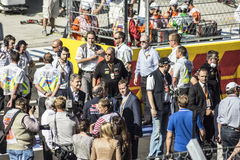 Before the start. Sochi, Russia -12 November 2014 : Formula One, Russian Grand Prix,  Sochi autodrom , 16 stage Royalty Free Stock Image