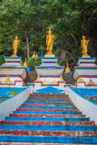 Start of stairs to the top of Tiger Cave Temple. 1237 step to to Royalty Free Stock Image