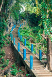 Start of stairs to the top of Tiger Cave Temple. 1237 step to to Royalty Free Stock Photography