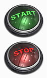 Start and stop. Button on white background Stock Photos