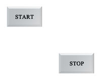 START and STOP Button Royalty Free Stock Photos
