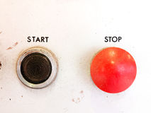 Start stop button. Retro buttons stop and start Stock Photos