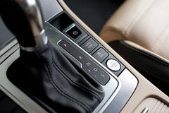 Start stop button auto hold. Switches on a car Stock Image