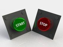Start stop button 3d Stock Photo