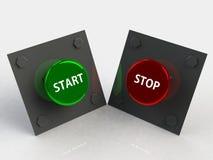 Start stop button 3d Stock Photo