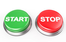 Start Stop Button Royalty Free Stock Photo