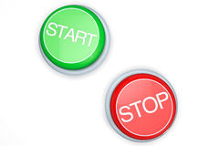 Start and Stop Buttons Royalty Free Stock Photography