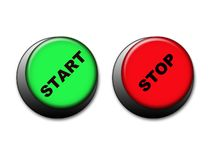 Start and stop buttons. For web site etc Royalty Free Stock Photos