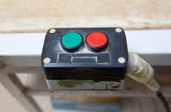 Start stop buttons Stock Photo