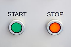 Start and stop buttons on device Royalty Free Stock Image