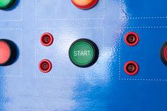 Start and stop buttons Stock Photography