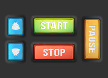 Start and stop buttons Stock Image
