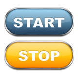 Start and Stop Buttons. On white background Royalty Free Stock Images