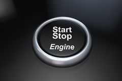Start stop engine Royalty Free Stock Images