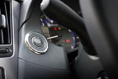 Start Stop Engine button in Japan Car Royalty Free Stock Image