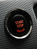 Start Stop engine button. In a sport car Royalty Free Stock Photography
