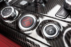 Start Stop Engine Button. In top model sedan Royalty Free Stock Photo