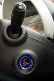 Start stop key into the lock of ignition of the car. Royalty Free Stock Photography