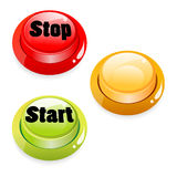 Start stop push button Stock Image