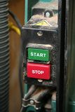 Start/stop switch. On a power tool royalty free stock photo