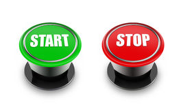 Start and stop switches Stock Images
