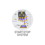 Start Stop System Machinery Industrial Automation Industry Production Icon. Vector Illustration vector illustration