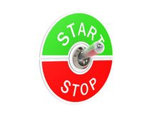 Start stop toggle switch Stock Photos