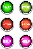 Start / Stop Web Buttons Royalty Free Stock Images