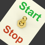 Start Switch On As Symbol For Control Royalty Free Stock Photos