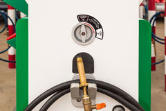 Start switch of lpg dispenser Royalty Free Stock Photo