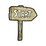 start symbol cartoon Stock Photo