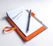 Start thinking of new year resolutions Royalty Free Stock Photo