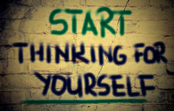 Start Thinking For Youself Concept Royalty Free Stock Photography