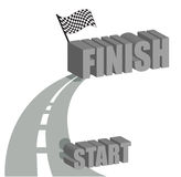 Start to finish road illustration design. Over white Royalty Free Stock Photography