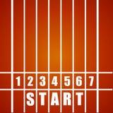 Start Track. Detailed illustration of a start track royalty free illustration