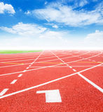 Start track. Lanes 1 number one. Stock Image
