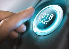 2018 start, tvåtusen arton Arkivfoton
