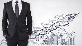 Start- und Führungskonzept stockfoto