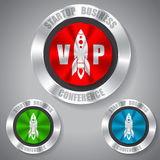 Start up badges in different colors Stock Image