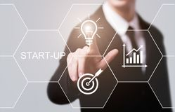 Start-up betala begrepp för teknologi för affär för internet för egenföretagande för huvudstad för Crowdfunding investeringföreta Royaltyfri Foto