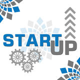 Start Up Blue Grey Elements Square Royalty Free Stock Photos