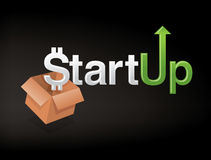 Start Up Business. A graphic and unique custom font that represents start-up business Royalty Free Stock Photo