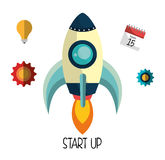 Start up business company. Graphic design, vector illustration vector illustration