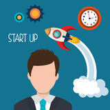 Start up business company. Graphic design, vector illustration stock illustration