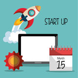 Start up business company. Graphic design, vector illustration royalty free illustration