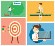 Start up business concept design. Flat design modern illustration of start up new business ideas, succed for website, printed materials and mobile apps vector illustration